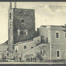 Postales: ANTIGUA POSTAL DE LA CIUDAD DE CEUTA, TORRE DE LA MORA (DERRUIDA) CIRCULADA. Lote 39840392