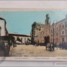 Postales: ANTIGUA POSTAL CEUTA - PLAZA DE LA REPUBLICA - Nº 10 L. ROISIN - COLOREADA DE ÉPOCA - AÑO 1935. Lote 39917088