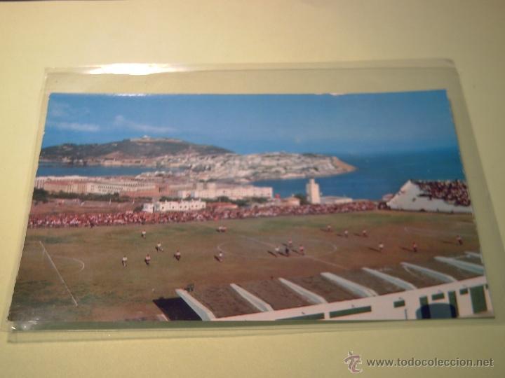 Nº 17 - CEUTA - LOS DOS MARES DEL ESTRECHO VISTOS DESDE EL ESTADIO MUNICIPAL -CAMPO DE FUTBOL- (Postales - España - Ceuta Moderna (desde 1940))