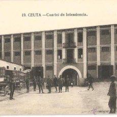 Postales: CEUTA.- CUARTEL DE INTENDENCIA. Lote 40181580