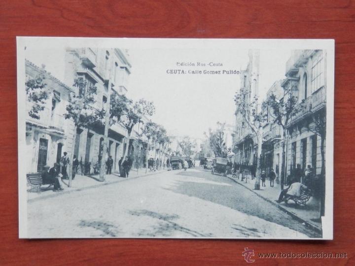 CEUTA CALLE GÓMEZ PULIDO POSTAL ANTIGUA (Postales - España - Ceuta Antigua (hasta 1939))