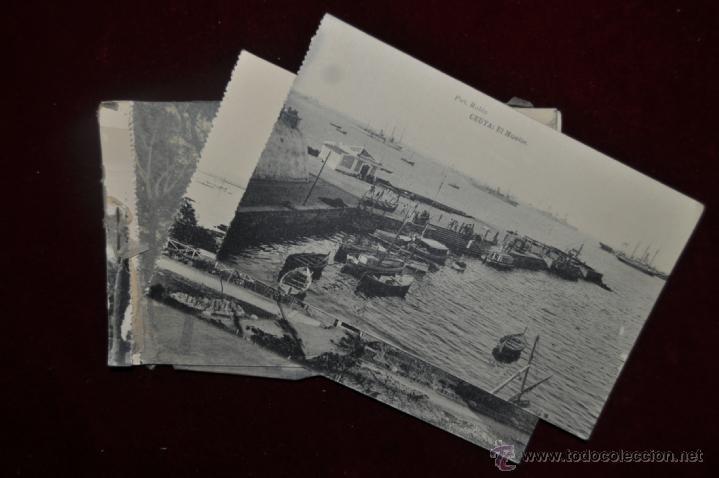 ANTIGUO ALBUM CON 10 POSTALES DE VISTAS DE CEUTA VARIADAS. FOT. RUBIO (Postales - España - Ceuta Antigua (hasta 1939))