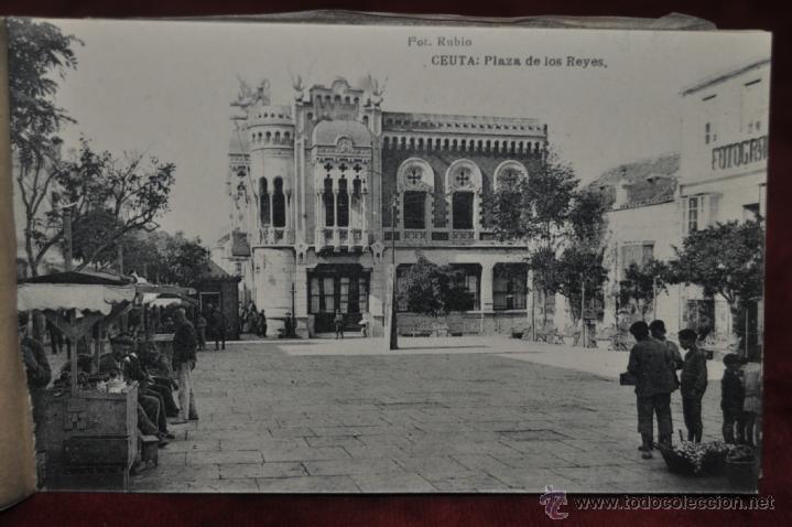 Postales: ANTIGUO ALBUM CON 10 POSTALES DE VISTAS DE CEUTA VARIADAS. FOT. RUBIO - Foto 9 - 41000397