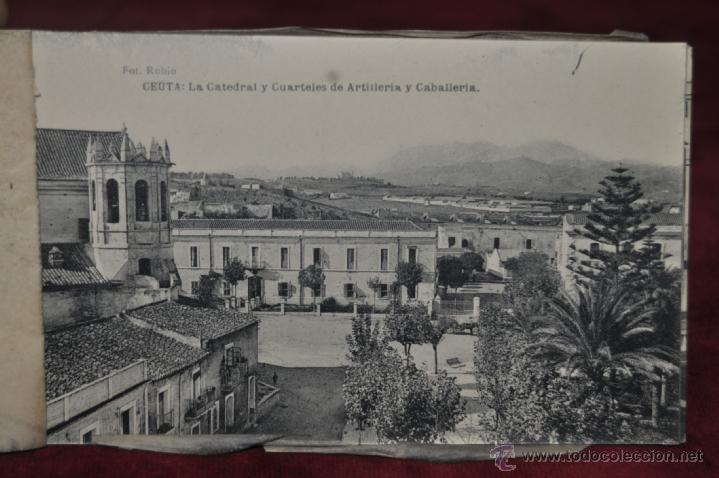 Postales: ANTIGUO ALBUM CON 10 POSTALES DE VISTAS DE CEUTA VARIADAS. FOT. RUBIO - Foto 11 - 41000397