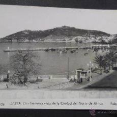 Postales: CEUTA, VISTAS DE LA CIUDAD. FOTO RUBIO. POSTAL CIRCULADA DEL AÑO 1962.. Lote 41534258