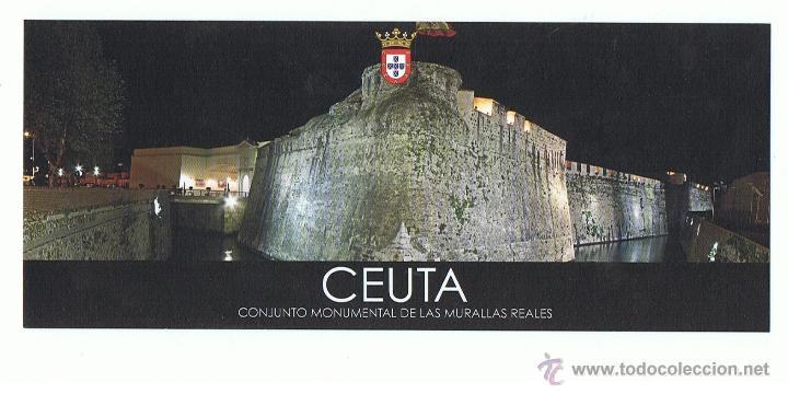 POSTAL CEUTA CONJUNTO MONUMENTAL DE LAS MURRALLAS REALES SIN CIRCULAR (Postales - España - Ceuta Moderna (desde 1940))