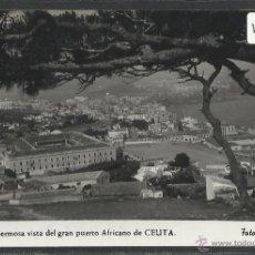 Postales: CEUTA - 19 - UNA HERMOSA VISTA DE GRAN PUERTO AFRICANO - FOTO RUBIO - (19557). Lote 41693805