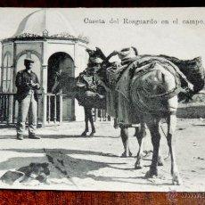 Postales: ANTIGUA POSTAL DE CEUTA - CASETA DE RESGUARDO EN EL CAMPO - ED. JOSE SAAVEDRA - NO CIRCULADA.. Lote 42626286