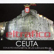 Postales: POSTALES CEUTA - CONJUNTO MONUMENTAL DE LAS MURALLAS REALES - POSTAL // D2. Lote 97003772