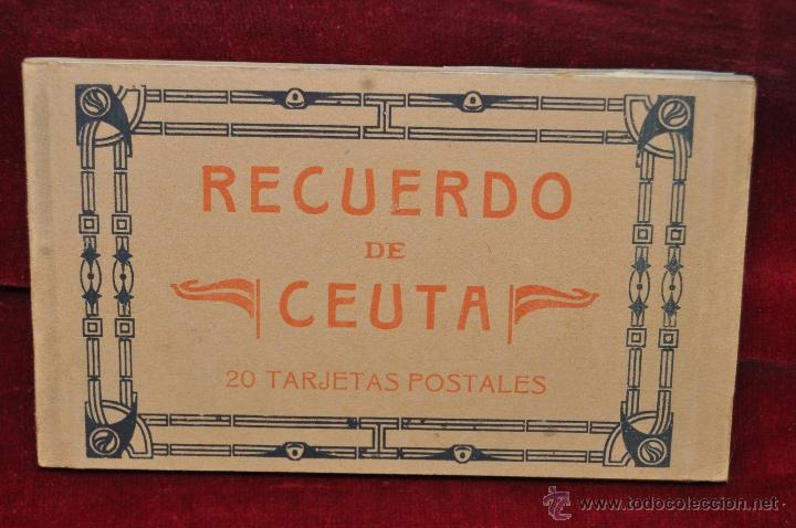 ALBUM DE POSTALES RECUERDO DE CEUTA. DIFERENTES VISTAS. HAUSER Y MENET. 20 TARJETAS (Postales - España - Ceuta Antigua (hasta 1939))