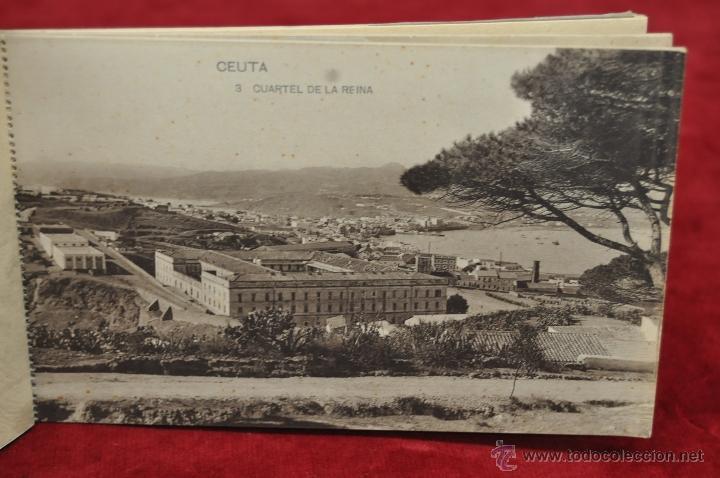 Postales: ALBUM DE POSTALES RECUERDO DE CEUTA. DIFERENTES VISTAS. HAUSER Y MENET. 20 TARJETAS - Foto 4 - 42887468