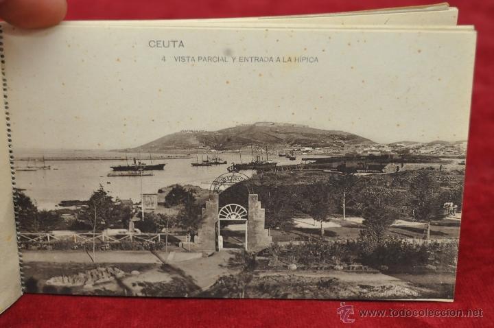 Postales: ALBUM DE POSTALES RECUERDO DE CEUTA. DIFERENTES VISTAS. HAUSER Y MENET. 20 TARJETAS - Foto 5 - 42887468
