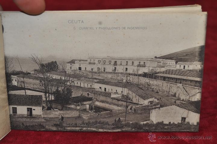 Postales: ALBUM DE POSTALES RECUERDO DE CEUTA. DIFERENTES VISTAS. HAUSER Y MENET. 20 TARJETAS - Foto 6 - 42887468