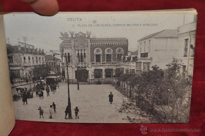 Postales: ALBUM DE POSTALES RECUERDO DE CEUTA. DIFERENTES VISTAS. HAUSER Y MENET. 20 TARJETAS - Foto 7 - 42887468