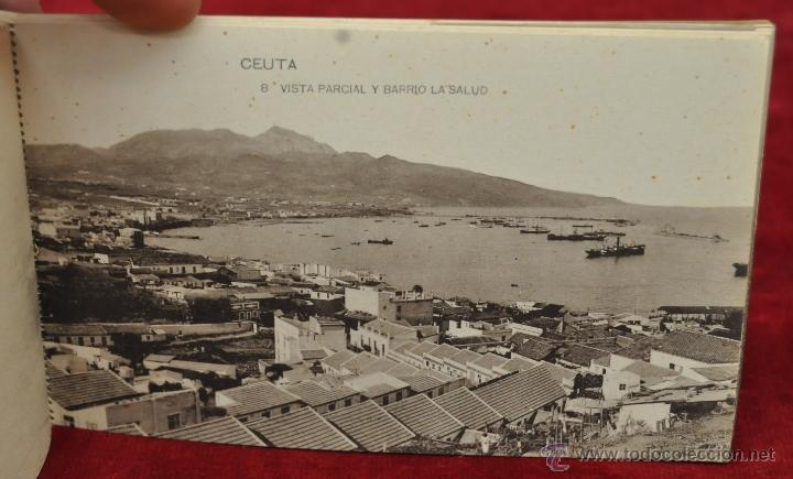 Postales: ALBUM DE POSTALES RECUERDO DE CEUTA. DIFERENTES VISTAS. HAUSER Y MENET. 20 TARJETAS - Foto 9 - 42887468