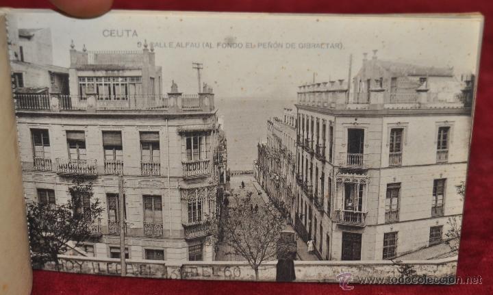 Postales: ALBUM DE POSTALES RECUERDO DE CEUTA. DIFERENTES VISTAS. HAUSER Y MENET. 20 TARJETAS - Foto 10 - 42887468