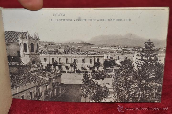 Postales: ALBUM DE POSTALES RECUERDO DE CEUTA. DIFERENTES VISTAS. HAUSER Y MENET. 20 TARJETAS - Foto 13 - 42887468