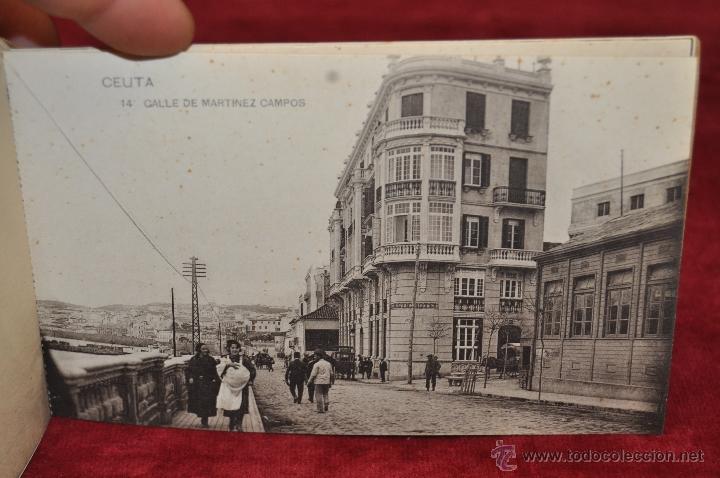 Postales: ALBUM DE POSTALES RECUERDO DE CEUTA. DIFERENTES VISTAS. HAUSER Y MENET. 20 TARJETAS - Foto 15 - 42887468