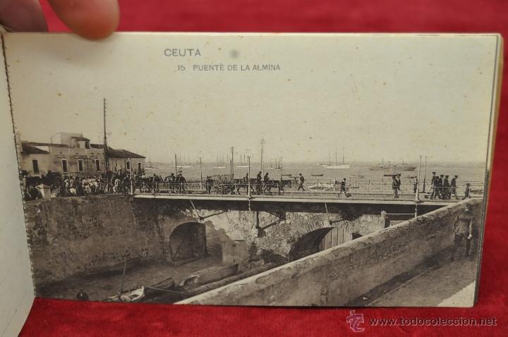 Postales: ALBUM DE POSTALES RECUERDO DE CEUTA. DIFERENTES VISTAS. HAUSER Y MENET. 20 TARJETAS - Foto 16 - 42887468