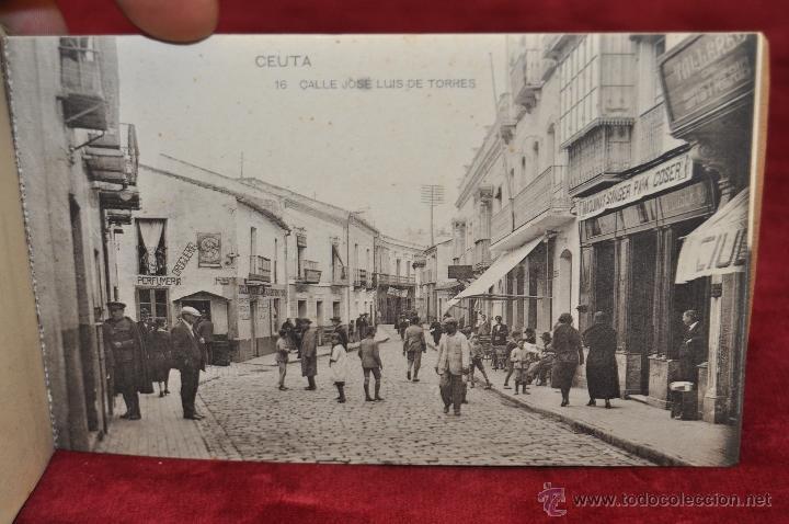 Postales: ALBUM DE POSTALES RECUERDO DE CEUTA. DIFERENTES VISTAS. HAUSER Y MENET. 20 TARJETAS - Foto 17 - 42887468