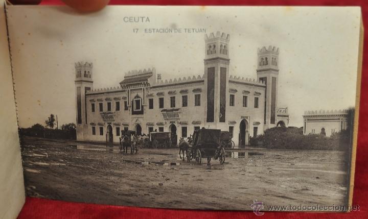 Postales: ALBUM DE POSTALES RECUERDO DE CEUTA. DIFERENTES VISTAS. HAUSER Y MENET. 20 TARJETAS - Foto 18 - 42887468