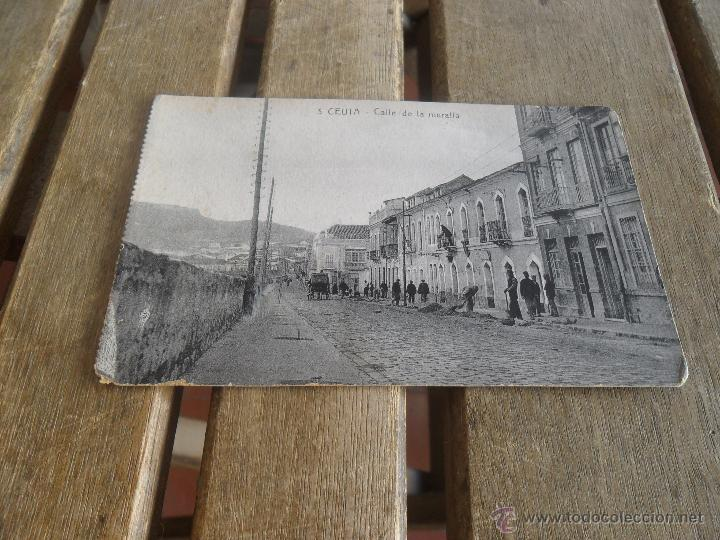 POSTAL DE CEUTA EDITOR MANUEL BARREIRO SIN CIRCULAR CALLE DE LA MURALLA (Postales - España - Ceuta Antigua (hasta 1939))
