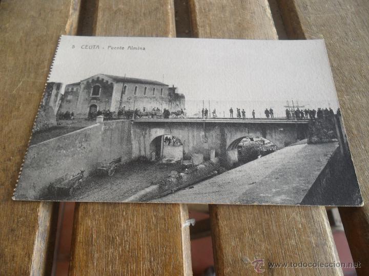 POSTAL DE CEUTA EDITOR MANUEL BARREIRO SIN CIRCULAR PUENTE ALMINA (Postales - España - Ceuta Antigua (hasta 1939))