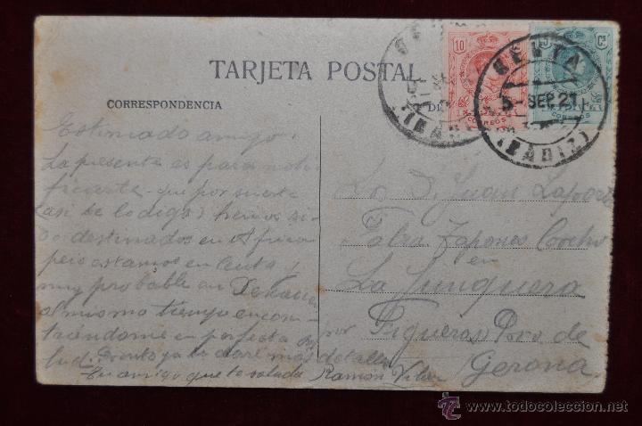 Postales: ANTIGUA POSTAL DE CEUTA. LLEGADA DEL CORREO CONDUCIENDO TROPAS. CIRCULADA - Foto 2 - 43246422