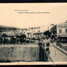 Postales: CEUTA. VISTA PARCIAL Y PEUNTE ALMINA. CIRCULADA 1923. Lote 43423889