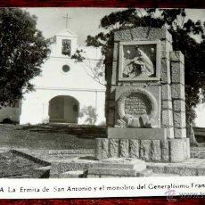 Postales: FOTO POSTAL DE CEUTA, LA ERMITA DE SAN ANTONIO Y EL MONOLITO DEL GENERALISIMO FRANCO, FOTO RUBIO, , . Lote 43613414