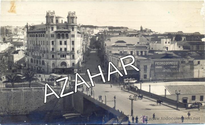 POSTAL FOTOGRAFICA DE CEUTA, PUENTE DE LA ALMINA, FOT.CASA RUBIO, MAGNIFICA (Postales - España - Ceuta Antigua (hasta 1939))