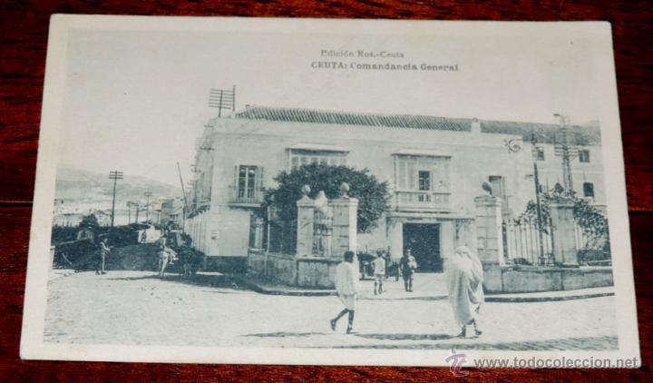 POSTAL DE CEUTA - COMANDANCIA GENERAL. EDICION ROS. FOTOTIPIA HAUSER Y MENET - NO CIRCULADA - ESCRIT (Postales - España - Ceuta Antigua (hasta 1939))