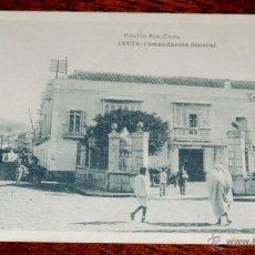 Postales: POSTAL DE CEUTA - COMANDANCIA GENERAL. EDICION ROS. FOTOTIPIA HAUSER Y MENET - NO CIRCULADA - ESCRIT. Lote 44183577