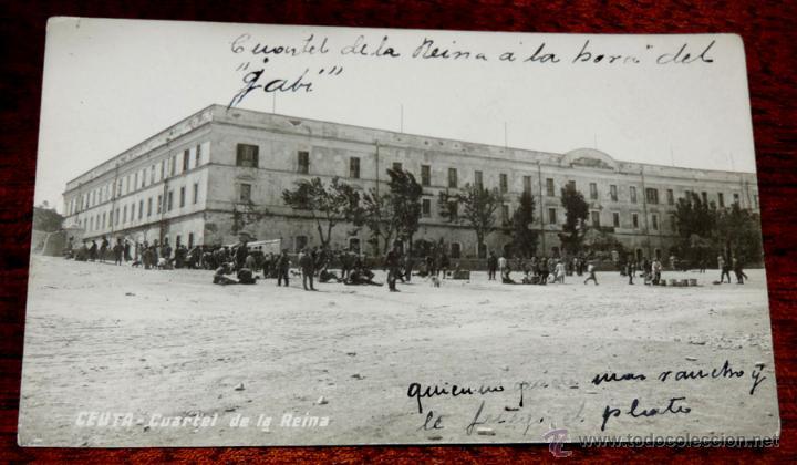 FOTO POSTAL DE CEUTA, CUARTEL DE LA REINA, NO CIRCULADA, ESCRITA EN 1916. (Postales - España - Ceuta Antigua (hasta 1939))