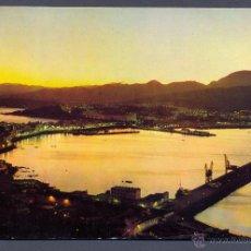 Postales: CEUTA. PANORAMICA DEL PUERTO DE NOCHE. Lote 45667320