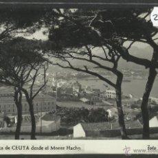 Postales: CEUTA - 59 - VISTA DESDE EL MOTE HACHO - FOTO RUBIO - (25785). Lote 45746256