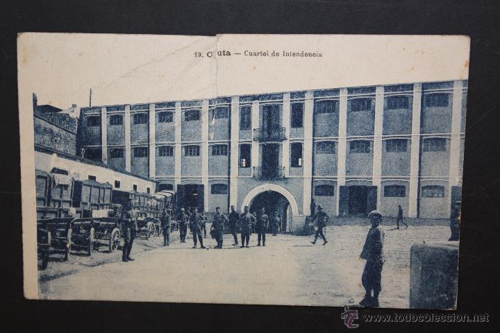 ANTIGUA POSTAL DE CEUTA. CUARTEL DE INTENDENCIA. ESCRITA (Postales - España - Ceuta Antigua (hasta 1939))