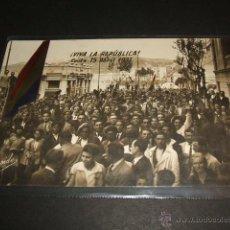 Postales: CEUTA 15 DE ABRIL DE 1931 ¡VIVA LA REPUBLICA! RARISIMA POSTAL FOTOGRAFICA RAPIDE. Lote 46194683