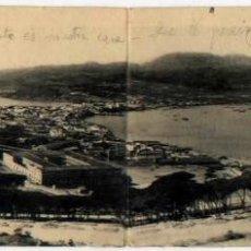Postales: POSTAL DOBLE CEUTA VISTA GENERAL DESDE EL HACHO MARRUECOS FOTOTIPIA HAUSER Y MENET. Lote 46449125