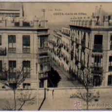 Postales: POSTAL CEUTA CALLE DE ALFAU MARRUECOS FOTOTIPIA HAUSER Y MENET. Lote 46449205