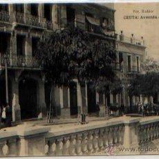 Postales: POSTAL CEUTA AVENIDA DE VILLANUEVA MARRUECOS FOTOTIPIA HAUSER Y MENET. Lote 46449234