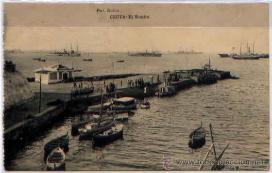 POSTAL CEUTA EL MUELLE MARRUECOS FOTOTIPIA HAUSER Y MENET (Postales - España - Ceuta Antigua (hasta 1939))
