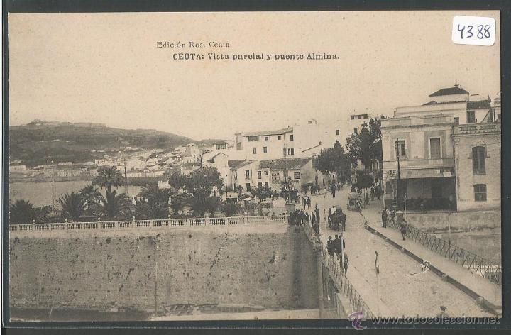 CEUTA - VISTA PARCIAL Y PUENTE ALMINA - P4388 (Postales - España - Ceuta Antigua (hasta 1939))