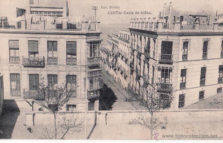 CEUTA - CALLE DE ALFAU - HAUSER Y MENET (Postales - España - Ceuta Antigua (hasta 1939))