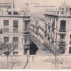 Postales: CEUTA - CALLE DE ALFAU - HAUSER Y MENET . Lote 46626967