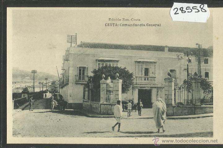 CEUTA - COMANDANCIA GENERAL - ED· ROS - FOTOTIPIA HAUSER Y MENET - (28558) (Postales - España - Ceuta Antigua (hasta 1939))