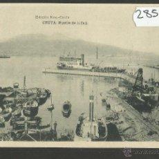 Postales: CEUTA - MUELLE DE ALFAU - ED· ROS - FOTOTIPIA HAUSER Y MENET - (28563). Lote 47209627