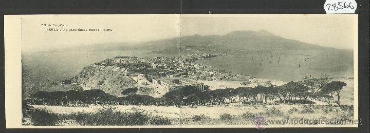 CEUTA - VISTA PARCIAL - DOBLE - ED· ROS - FOTOTIPIA HAUSER Y MENET - (28566) (Postales - España - Ceuta Antigua (hasta 1939))