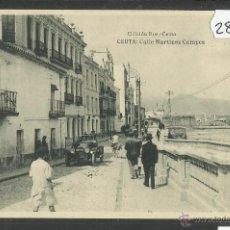 Postales: CEUTA - CALLE MARTINEZ CAMPOS - ED· ROS - FOTOTIPIA HAUSER Y MENET - (28567). Lote 47209689