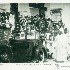 Cartes Postales: TETUAN. EL JALIFA Y EL GRAN VISIR EN COCHE OFICIAL. HACIA 1950. FOTO CALATAYUD. CIRCULADA A AUSTRIA.. Lote 47312409